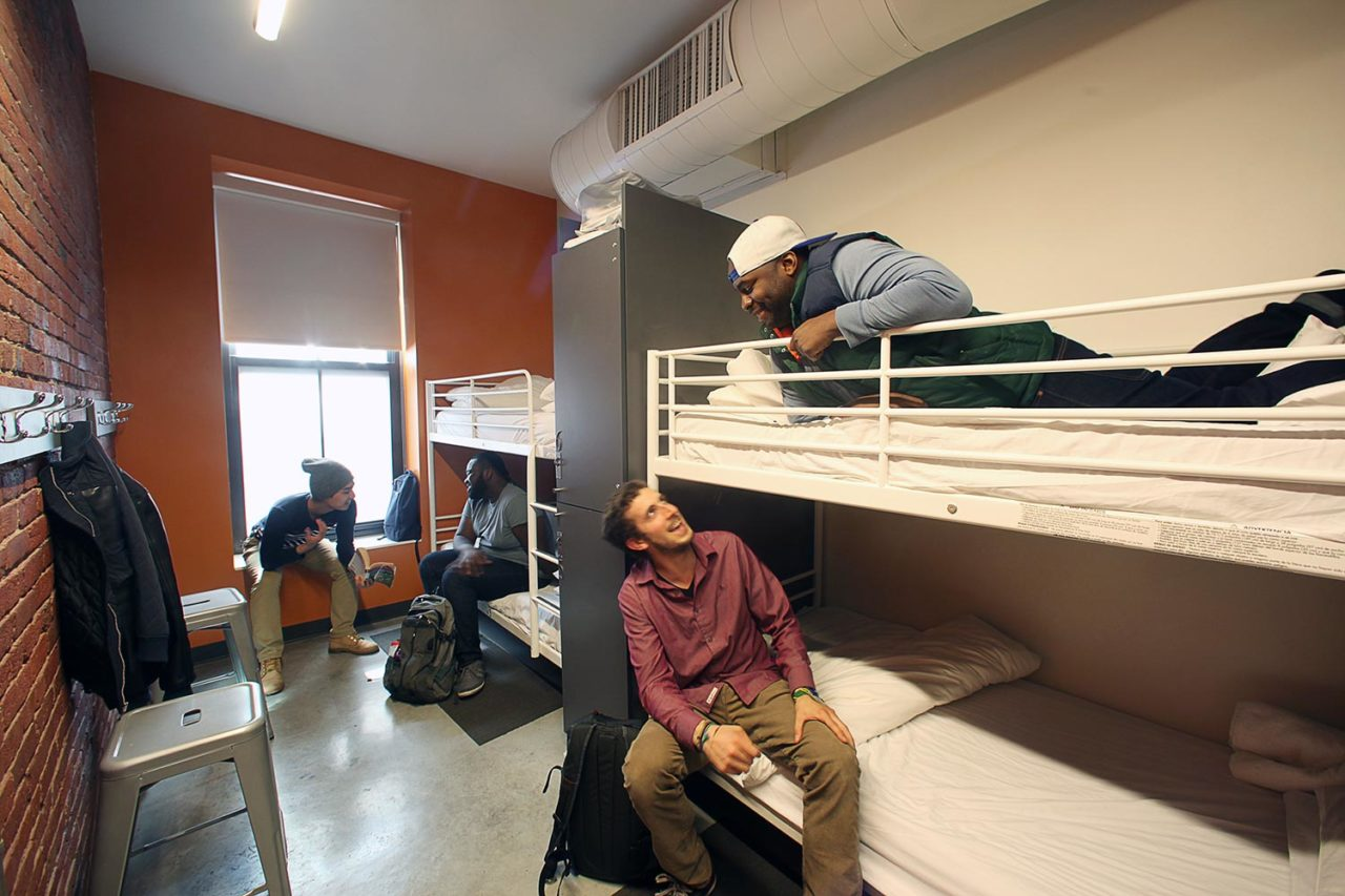 HI Boston hostel 4 Bed Dorm