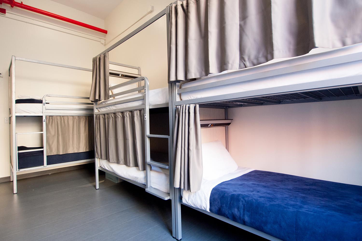 Room view with six bunk beds