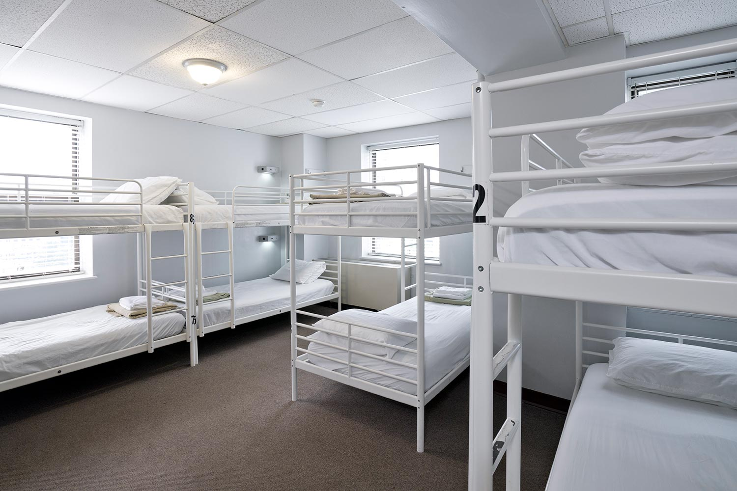 Room view with 8 bunk beds
