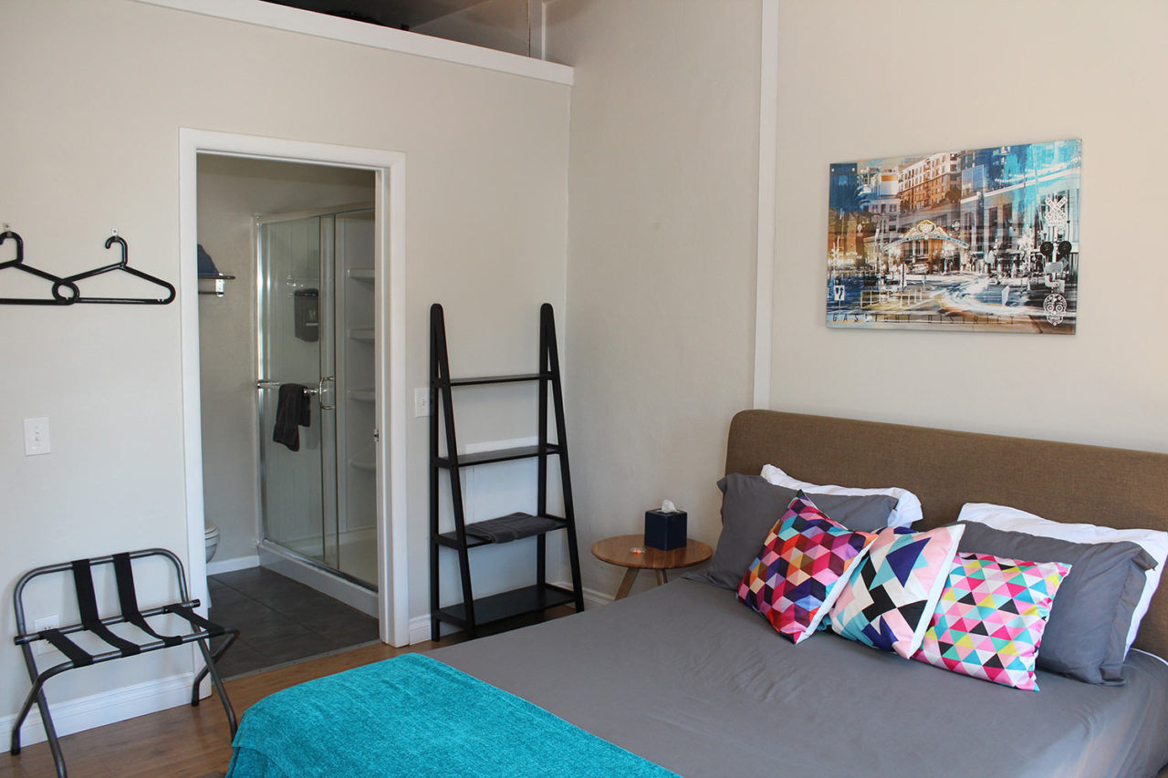Private ensuite room at HI San Diego Downtown Hostel
