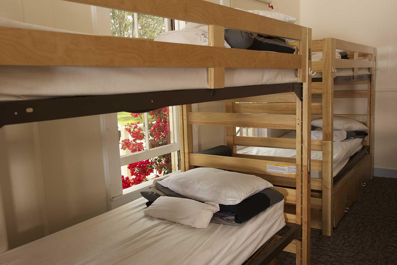 Small Dorm room at HI San Francisco Fisherman's Wharf.