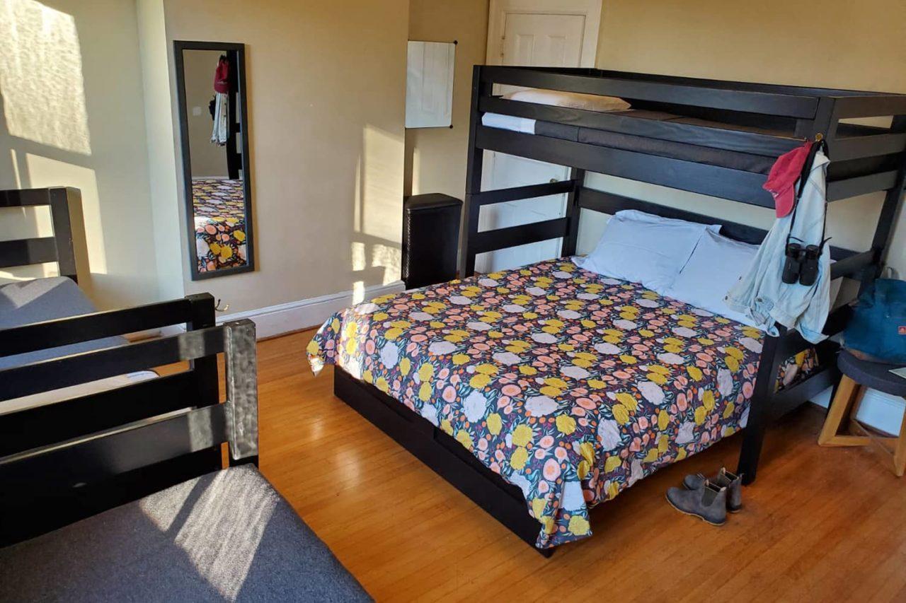 a five-person bedroom at HI Marin Headlands hostel private vacation rental