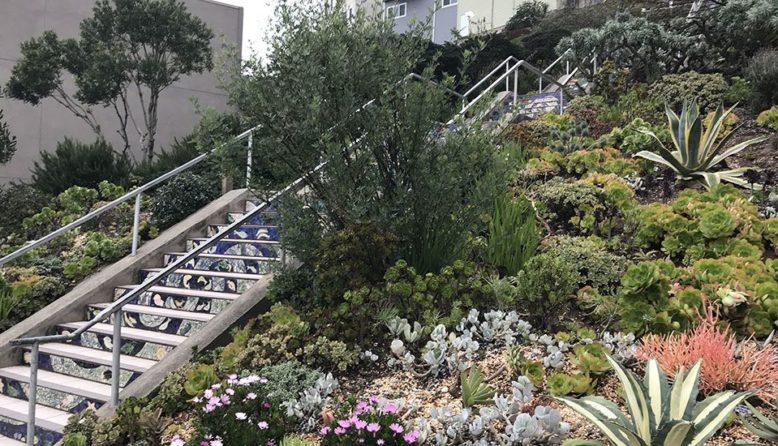 tiled stairway in San Francisco