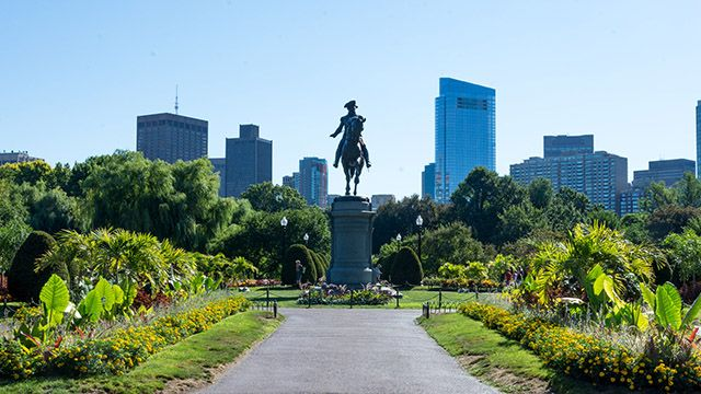 A statue at Boston Public Garden