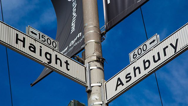 Haight Ashbury sign San Francisco