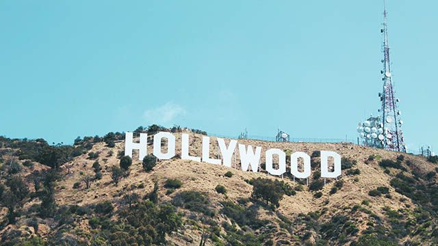 A view of the Hollywood sign in Los Angeles