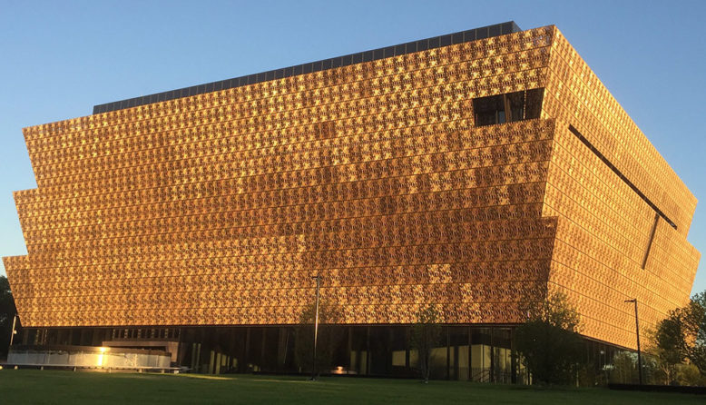 The outside of the National Museum of African American History in DC