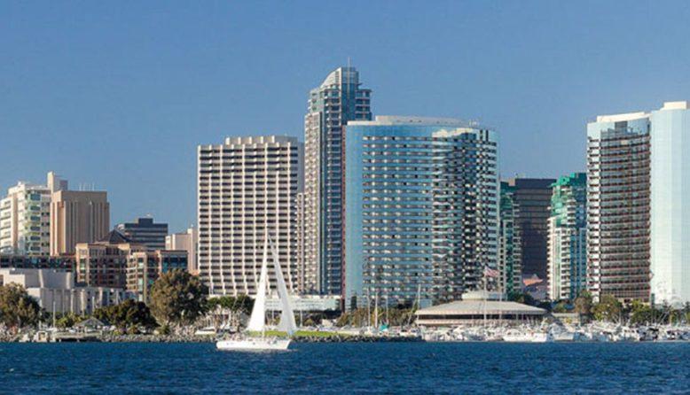 View of the San Diego skyline