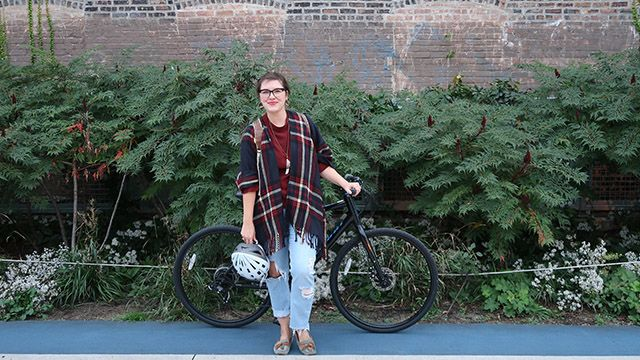 Bloomingdale bike trail in Chicago