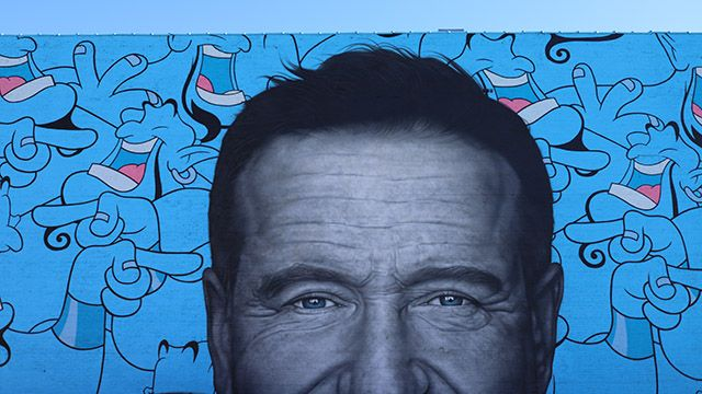 Robin Williams mural in Chicago