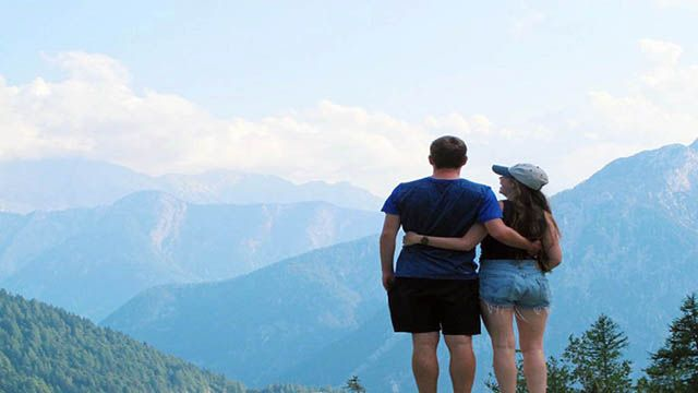 couple on a mountaintop