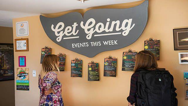 Events calendar at HI Point Montara Lighthouse hostel