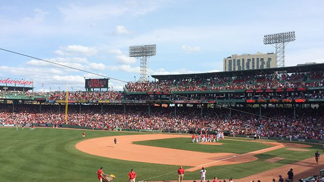 Fenway Park in Boston during a Red Sox baseball game
