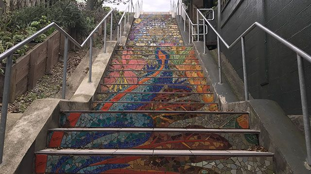 tiled staircase in San Francisco