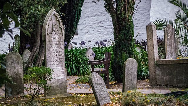 Mission Dolores cemetery in San Francisco