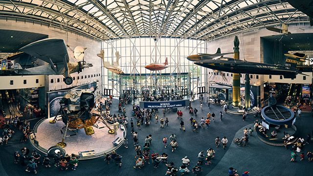 National air and space museum in Washington DC