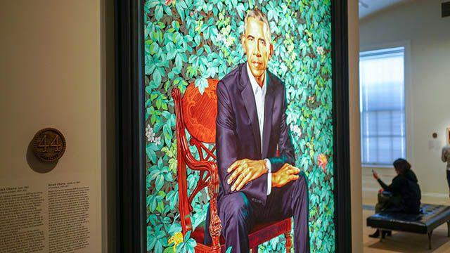 Portrait of Barack Obama at the National Portrait Gallery in DC