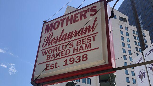 sign for mother's restaurant