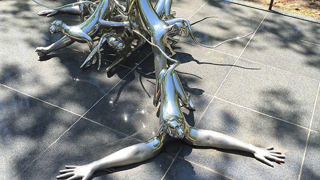 a sculpture in the NOMA sculpture garden