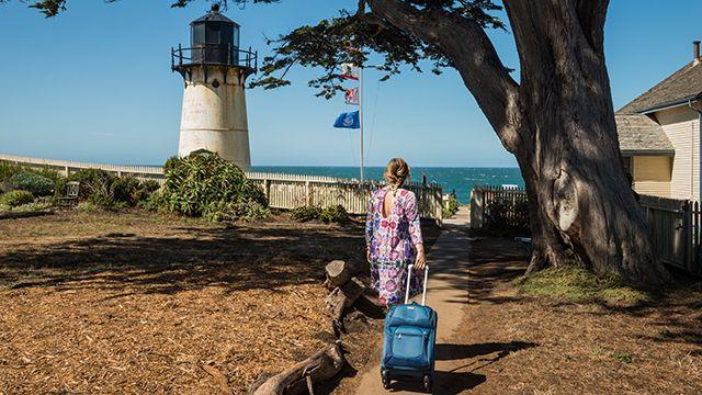 a traveler at HI Point Montara Lighthouse hostel