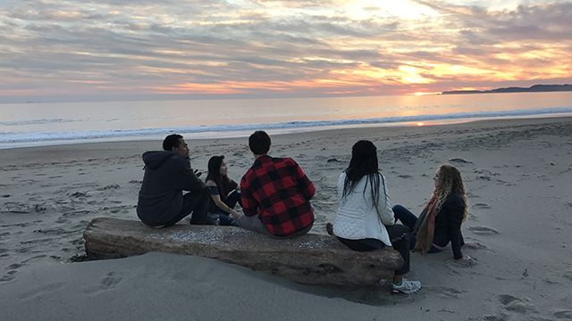 a group of travelers at point reyes national seashore
