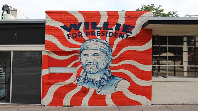 Willie Nelson mural in Austin