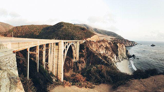 Bixby Canyon Bridge on Highway 1 in California