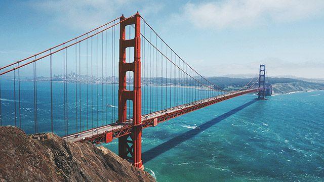 A view of the Golden Gate Bridge Marin