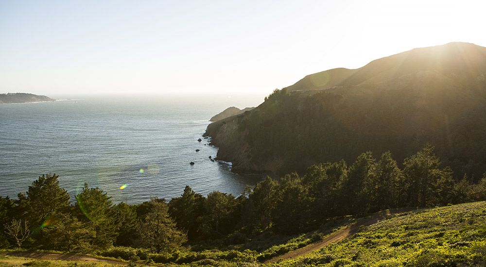 A view of the landscape at the Marin Headlands