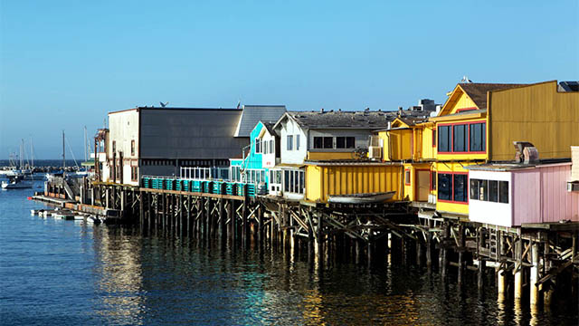 the wharf in Monterey