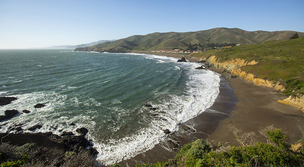 A view of Rodeo Beach in the Marin Headlands