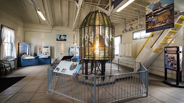 the fresnel lens at Pigeon Point lighthouse
