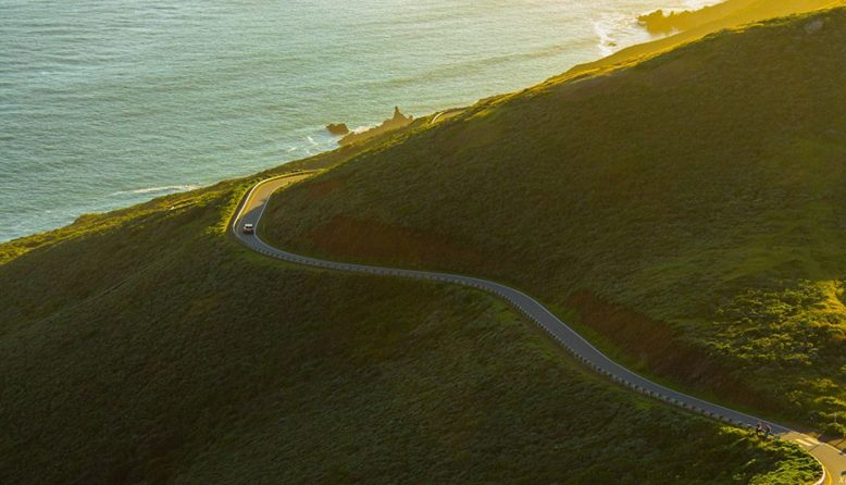 Road in the Marin Headlands