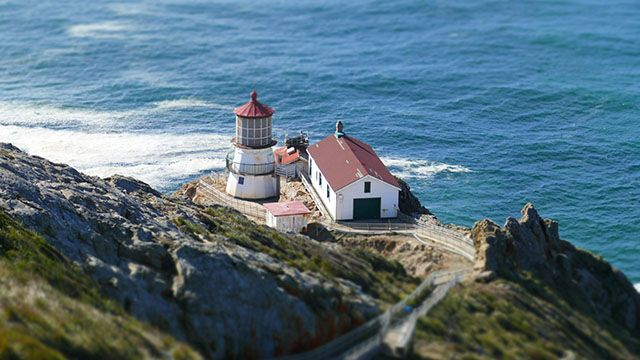 a view of the point reyes light house