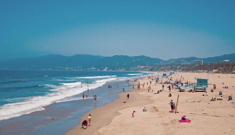 a beach in Santa Monica
