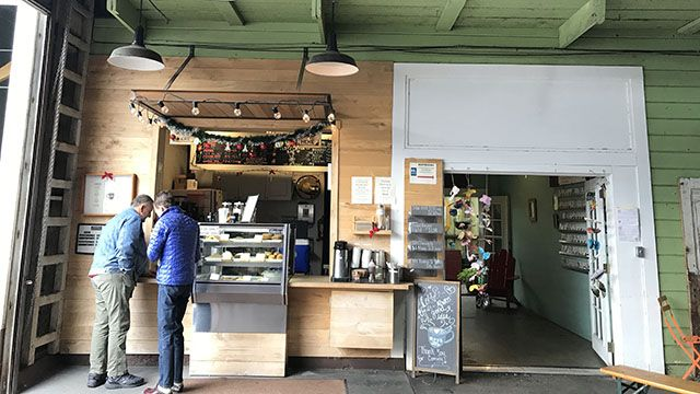 Toby's coffee bar in Point Reyes