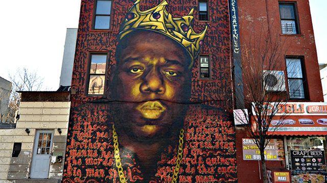 Notorious BIG mural in brooklyn