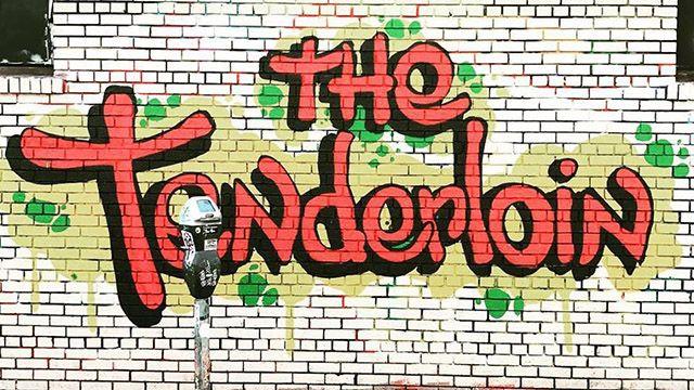 Tenderloin script mural in San Francisco