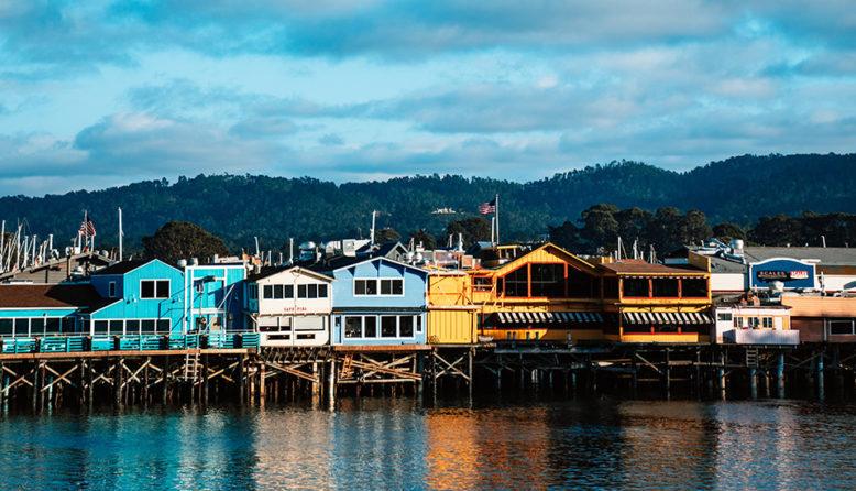 colorful buildings in Fisherman's Wharf in Monterey