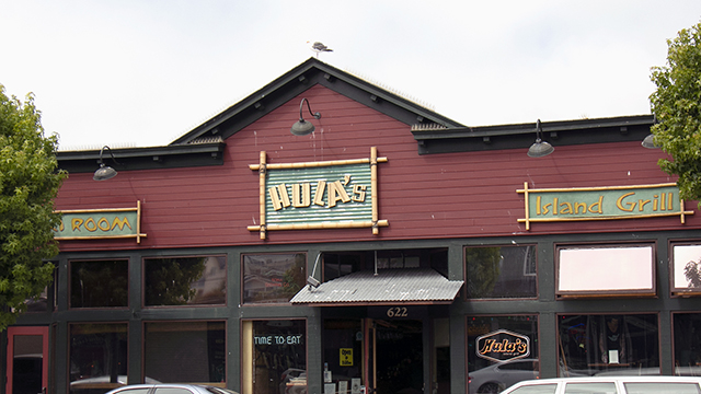 exterior of hula's grill in monterey