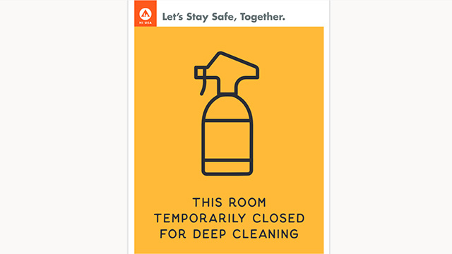 hostel deep cleaning sign