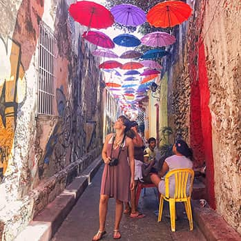 blogger Gabby Beckford in Cartagena Colombia