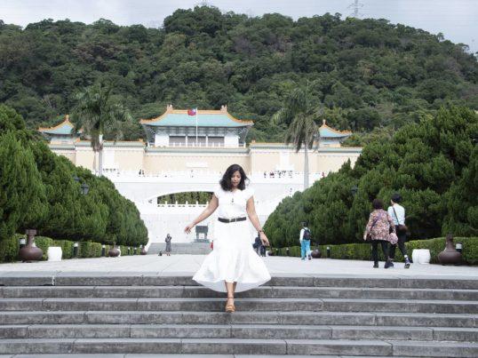 the author Jessica van Dop Dejesus in Taipei
